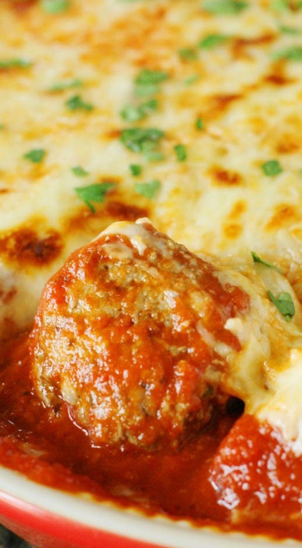 Easy Meatball Parmesan Casserole Comfort Food Recipes Casserole