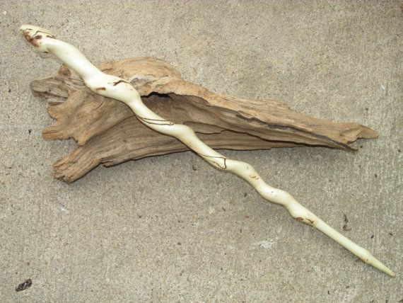 Natural twisted box elder maple wood magic wand ooak for Real elder wand