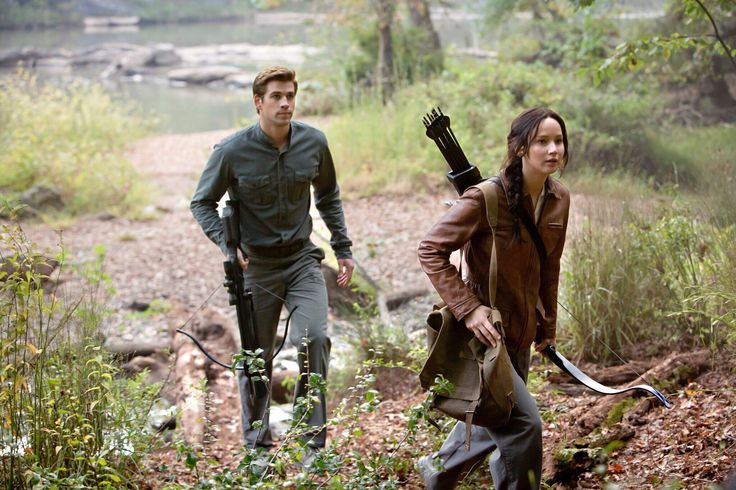 Gale and Katniss being themselves.