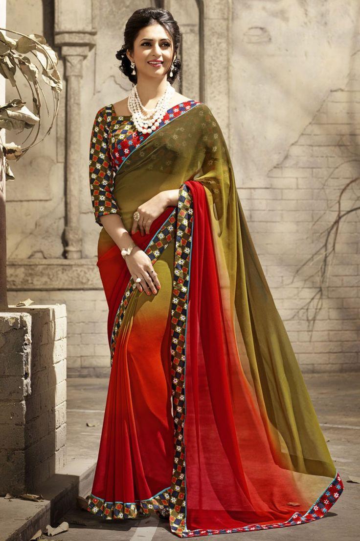 107 Best Divyanka Tripathi Saree Images On Pinterest