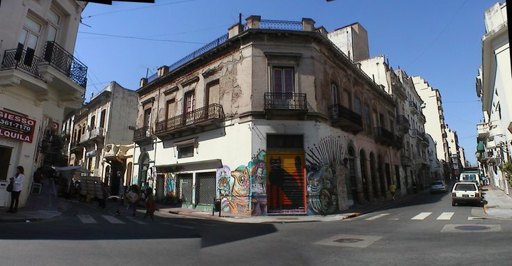 Street corner stitch - Buenos Aires Argentina