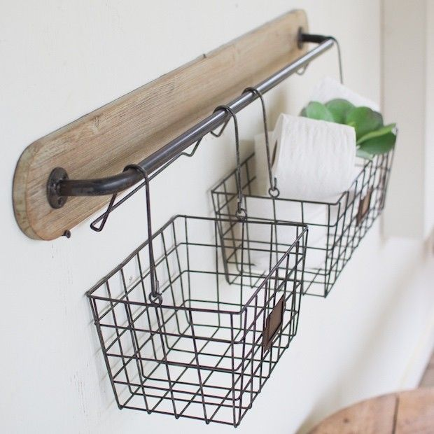 17 best ideas about wire basket storage on pinterest for Hang photos from wire
