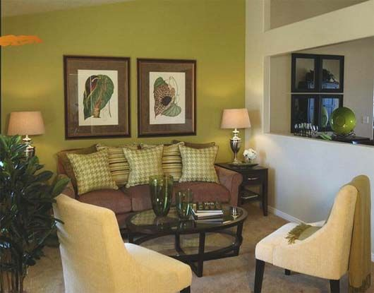 Green And Brown Livingroom Decoration Ideas   Home Decorating Trends    Homedit