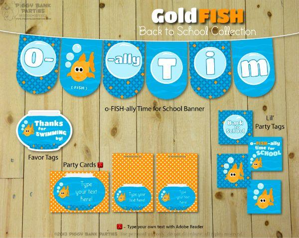 42 best Party Theme Gold Fish images on Pinterest Goldfish