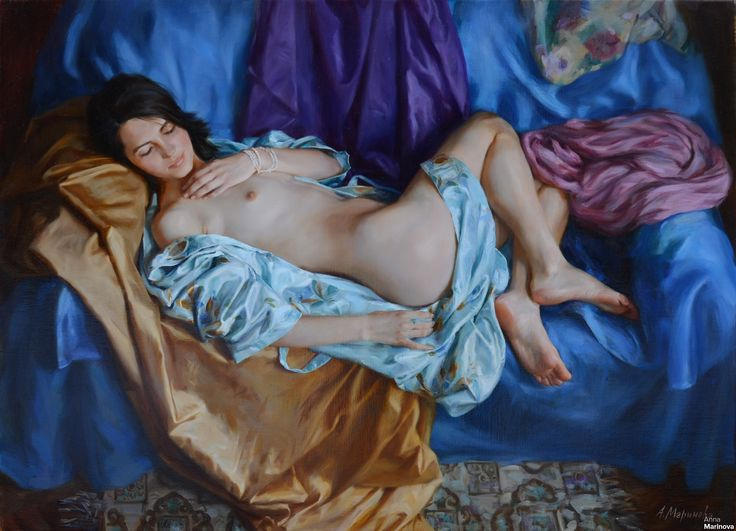 The silk dressing gown Anna Marinova