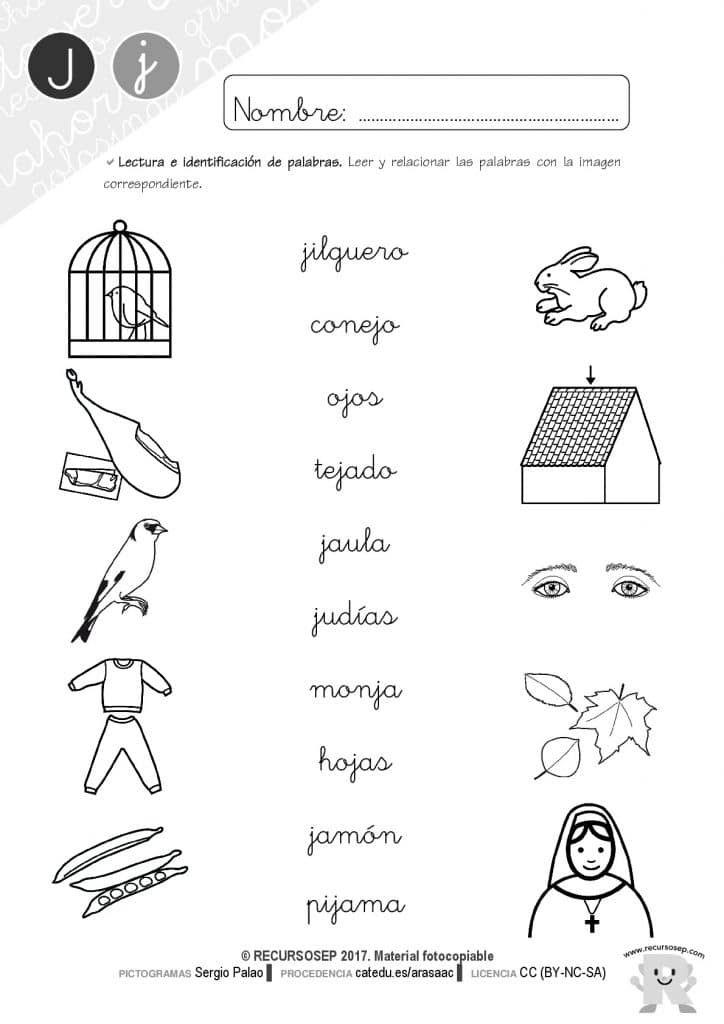 Taller De Lectoescritura Cuadernillo Letra J Actividades De Letras Cuaderno De Lectoescritura Letra J