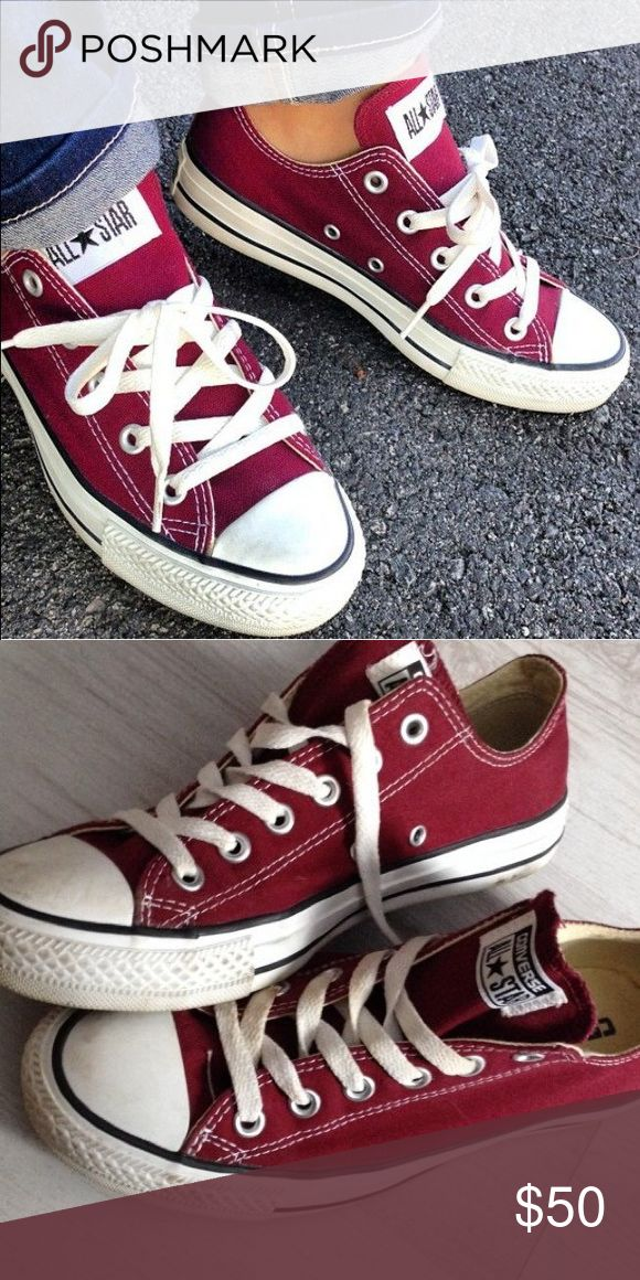 Maroon/Burgundy Converse Converse Maroon/Burgundy only used twice in good condition. SIZE 6 WOMANS Converse Shoes Sneakers