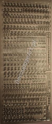 Naklejki samoprzylepne 075 litery srebrne Naklejki samoprzylepne napisy - sklep DecoupageArt.pl