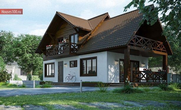 Готовый проект дома с мансардой площадью 124м2 в Комсомольске-на-Амуре