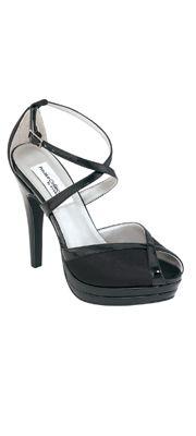 Black Patent Leather Strappy Vegas Heel