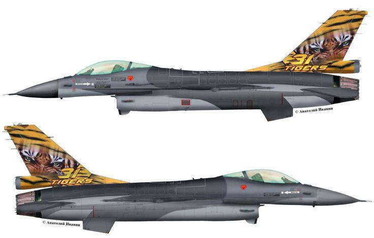 "F-16A Block 15AA OCU #FA-106 (s/n 87-0050, c/n 6H-106) from  31 sqn ""Tigers"" Belgian Air Force - BAF. Tiger Meet 2014. June 2014."