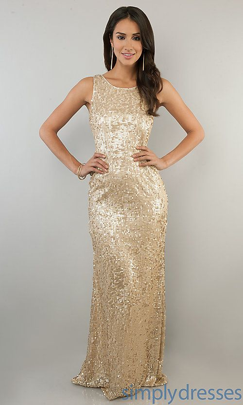 sequin gold champagner floor length bridesmaids dress gown