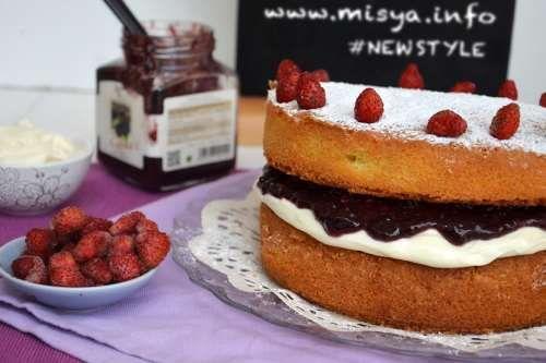 Ricette inglesi Victoria sponge cake