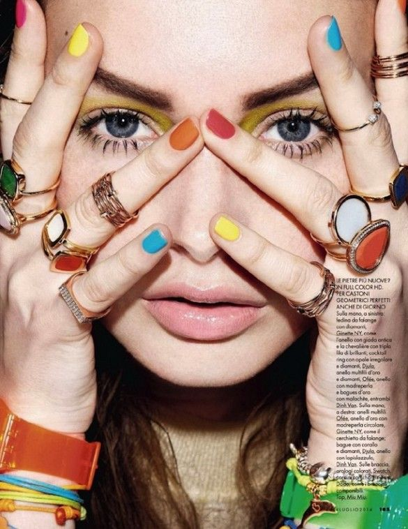 This fun look is from Elle Italia's latest accessories spread
