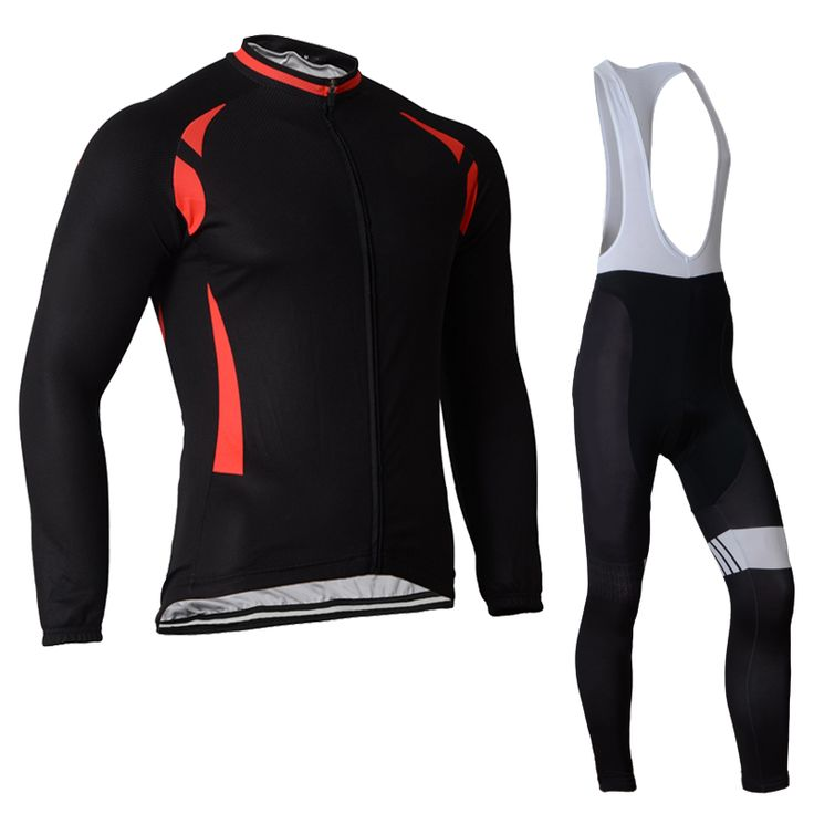2017 Gel Breathable Men Spring/autumn Long Sleeve Cycling Sets Ropa Ciclismo Black Cycling Suit Bib Pant and Jersey Sports Suits