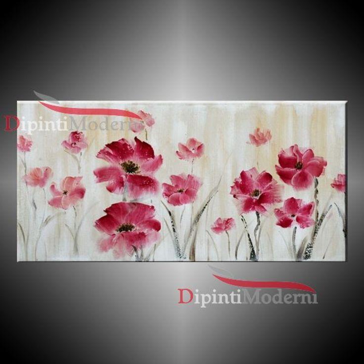 35 best images about quadri moderni con fiori on pinterest for Quadri fiori olio