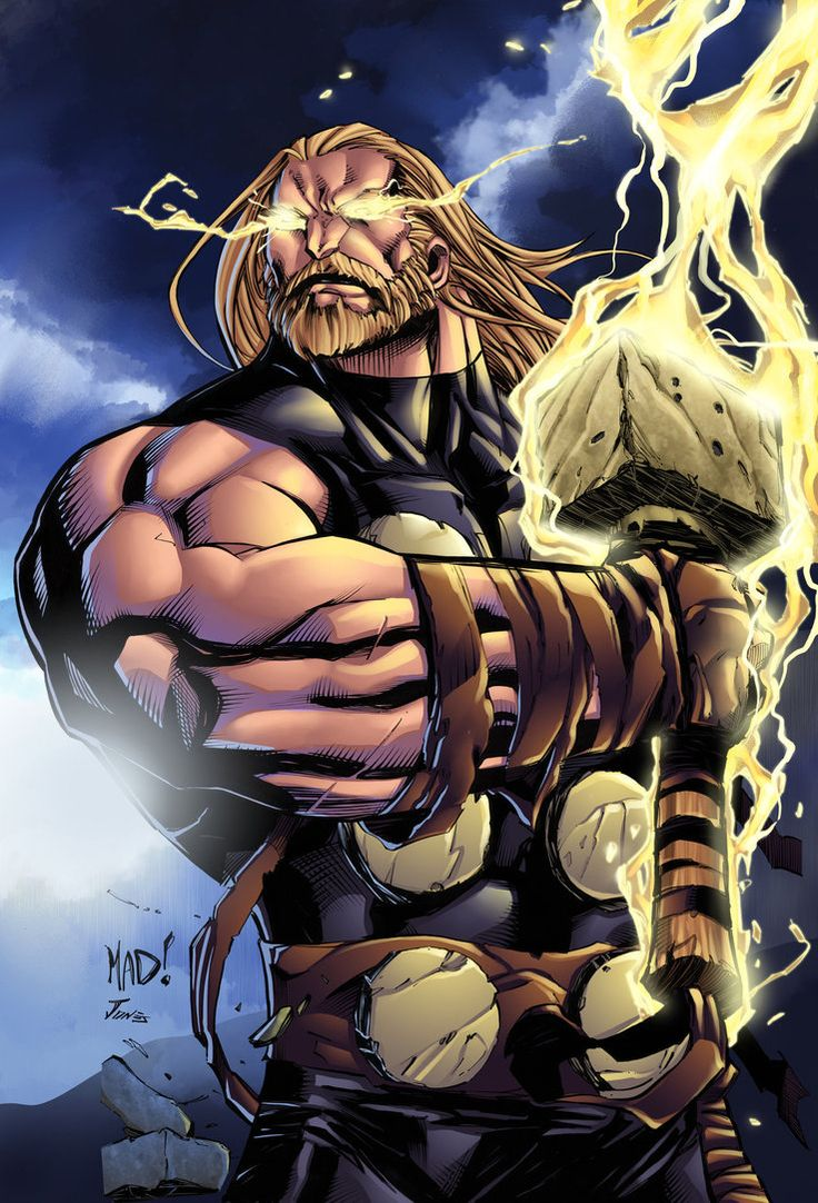 Thor, by Joe Madureira. That's how Thor should look. A massive Norse God. Joe Mad is my favorite comic book artist EVER! -MB