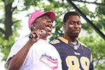 "St. Louis Ram, Jared Cook and his mother Yulinda share ""A Story of Survivorship & a Son's Support"" at the 5th annual Power of a Promise luncheon. Tickets still available."