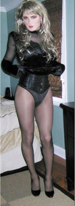 Sissy in lingerie.