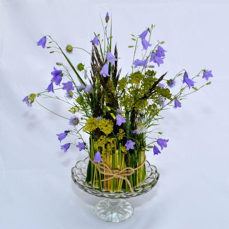 Wild flowers decoration on cake stand by Lisbeth Dahl Copenhagen Spring/Summer 13. #LisbethDahlCph #Flower #Decoration #Wild