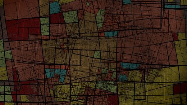 geometric wallpaper teal and brown - Google Search