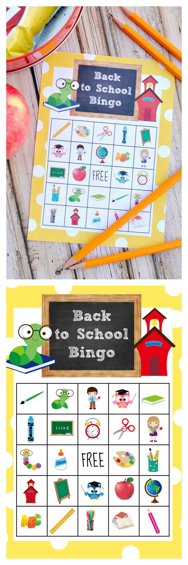 Free Printable Back to School Bingo Game