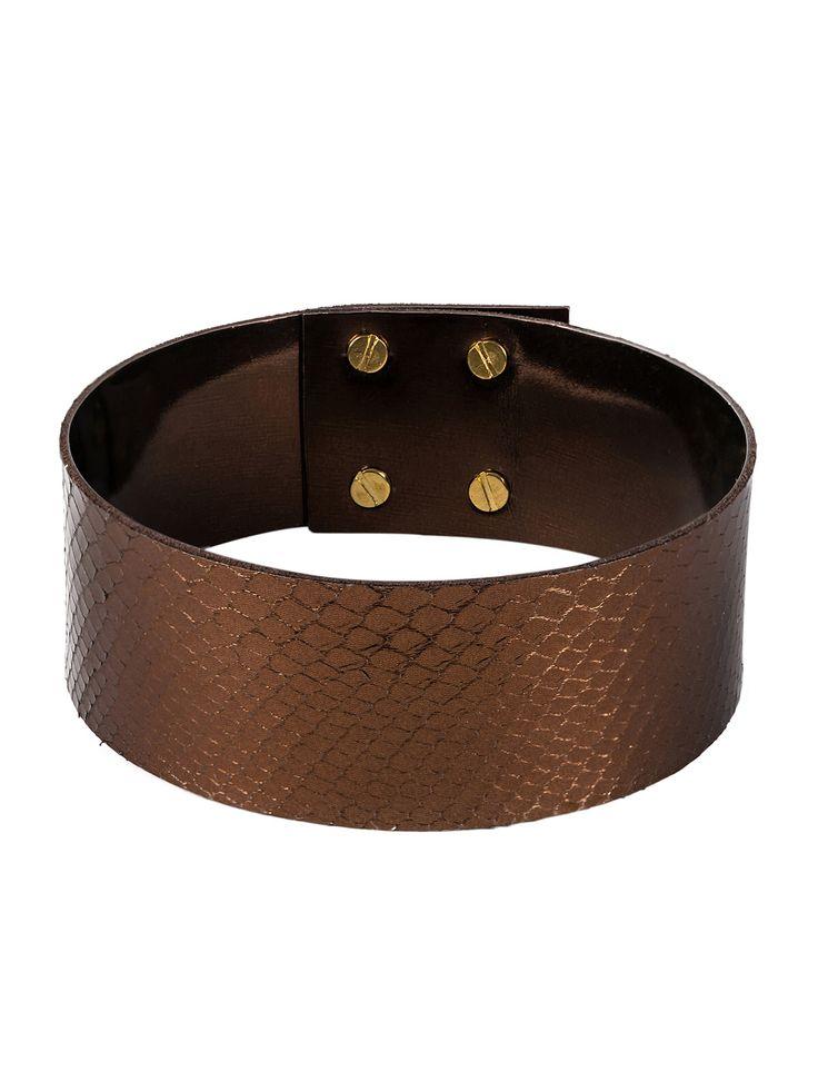 Bronze python leather choker , available online now on www.manokhi.com #python #leather #choker #leatherchoker #shopping #fashion #style #celebritystyle #celebrityfashion #fashionstyle #onlineshopping #onlineshop #manokhi