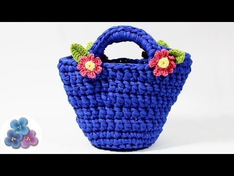 DIY Bolsos de Trapillo paso a paso Crochet XXL Ganchillo Totora Cestas de Trapillo Pintura Facil - YouTube