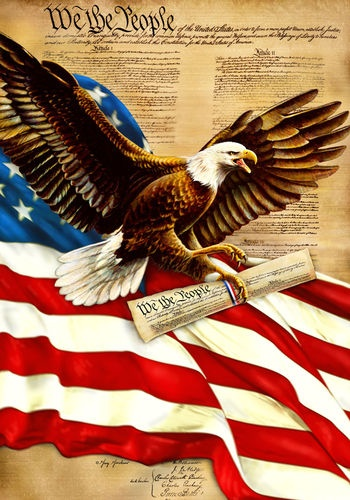 We the people Eagle - Patriotic American Eagle.