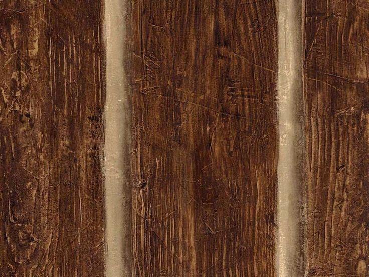 Wallpaper Faux Rustic Logs Cabin Wood Planks Log Wall Wooden Looking #Chesapeake