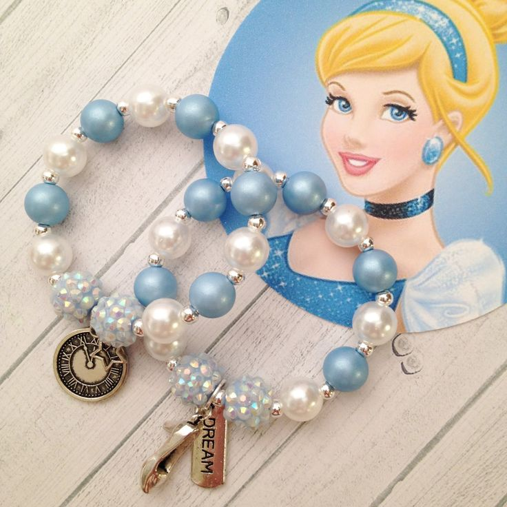8 - Princess Cinderella Charm Bracelet Birthday or Slumber Party Favor Cinderella Birthday Party Favor Glass Slipper Party Favor by…