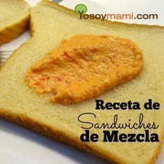 Los sandwiches de mezcla son tradicionales en la cocina puertorriqueña, ya sea para las fiestas familiares o navideñas, o en las loncheras escolares.