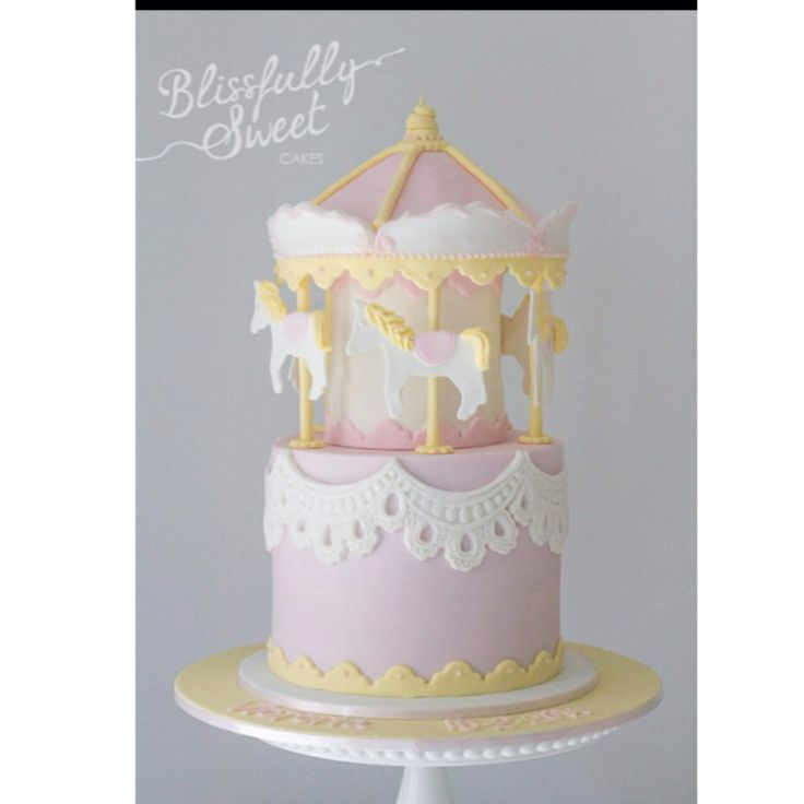 Pastel Carousel Cake By Blissfully Sweet Cakes. Inspired