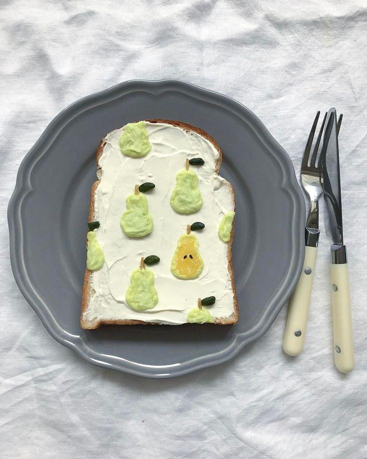 Pear toast by Eiko Mori (@estyle1010)