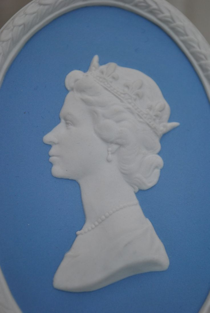 Delightful Wedgwood Jasper ware plaque depicting Queen Elizabeth.