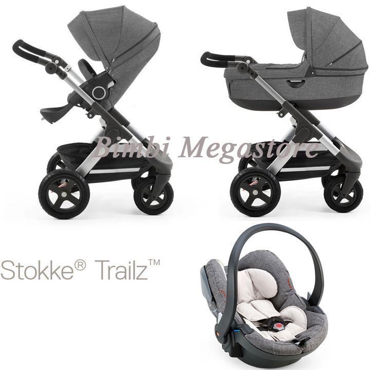 Stokke - Trailz Trio Izigo - Trio di ultima generazione per genitori dinamici che amano l'avventura. Bimbi Megastore #stokke #trioizigo