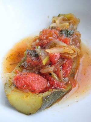 Vegetarian Zucchini Boat (Kabak Bayıldı)