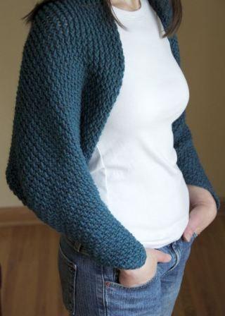 knitting a shrug on a loom!