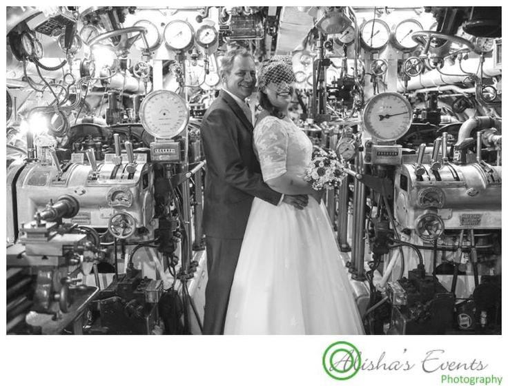 Weddings at Royal Submarine Museum  / Wedding photographer Gosport / wedding in a submarine - unique www.alishaseventsphotography.co.uk