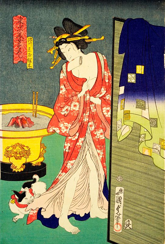 猫の浮世絵 歌川国貞の猫