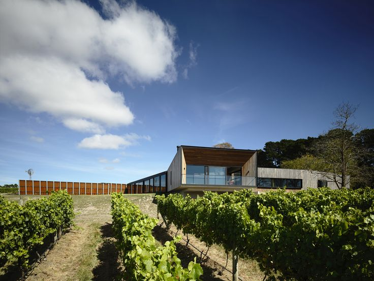 Built by McAllister Alcock Architects in , Australia The Main Ridge house sits within an established working vineyard located on Victoria's Mornington Peninsula. The bri...