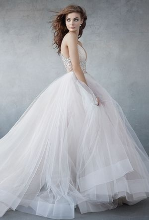 V-Neck Princess/Ball Gown Wedding Dress  in Tulle. Bridal Gown Style Number:33377698