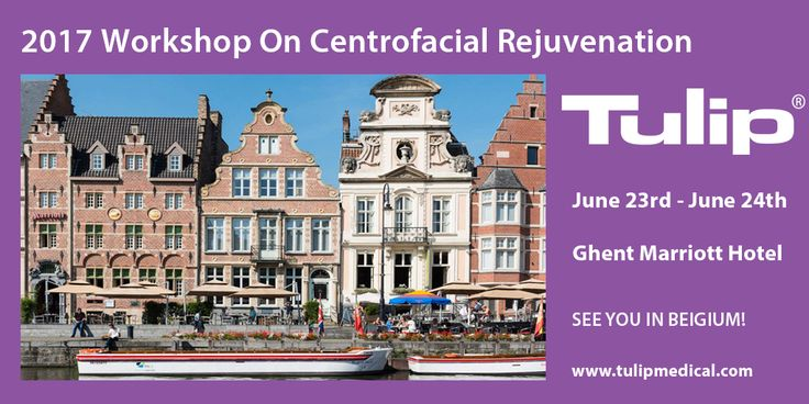 Tulip will attend the 2017 Workshop On Centrofacial Rejuvenation at Ghent Marriott Hotel in Belgium from June 23rd to June 24th. You will learn how to use Macs-lift, Microfat, SNIF, Nanofat Grafting for a complete facial rejuvenation procedure by using Tulip instruments.  Please visit www.tulipmedical.com for more information.  #plasticsurgery #nanofat #tulipmedical #plasticsurgeon #fattransfer #fatgrafting #liposcution #microfat #facialrejuvenation