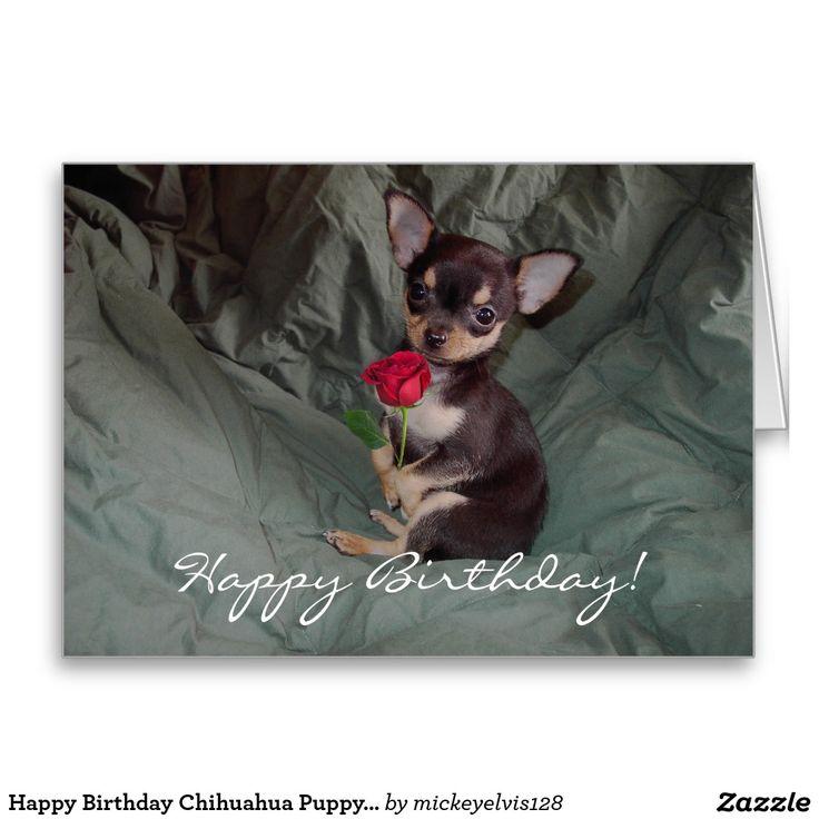 Happy Birthday Chihuahua Puppy Card Greeting Card