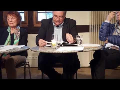 Eine Lesung im Oktober im Chorherrenstift Sindelfingen über Sindelfinger Autoren Okt 2017 - YouTube