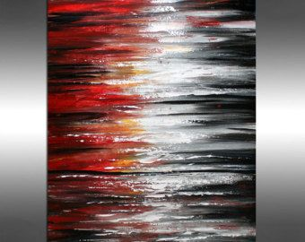 36 Drip art acrylic painting Wall decor art on by largeartwork