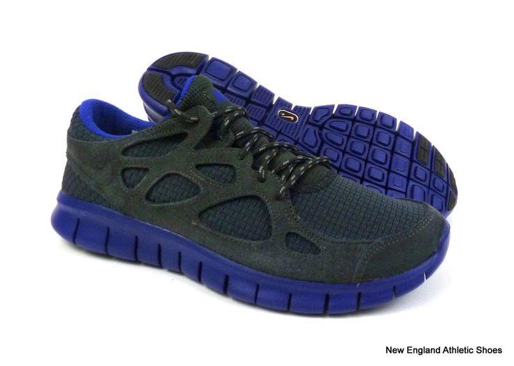 Nike men Free Run+ 2 Woven running shoes sneakers size 8 - Anthracite / Concord  #Nike #RunningCrossTraining