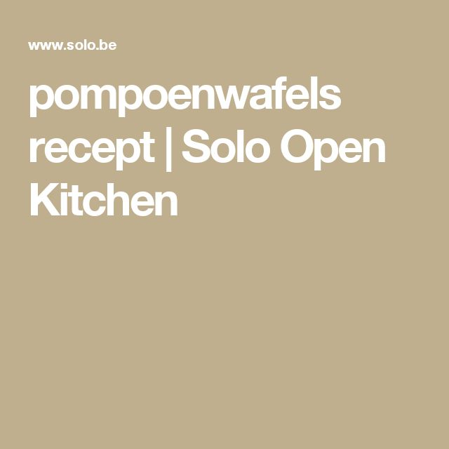 pompoenwafels recept | Solo Open Kitchen