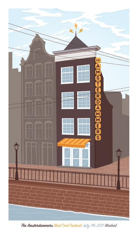 Gig poster for The Amsterdammers   MadCool Festival 2017