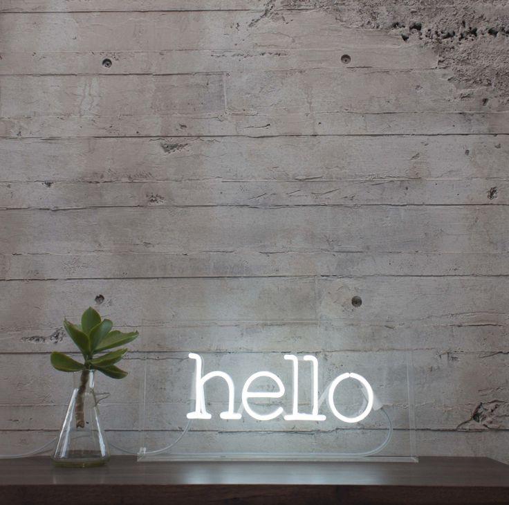 Neon Hello Sign Via Dtll Shops Pinterest